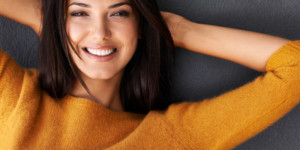 woman with cosmetic dentistry in Lynchburg VA